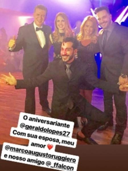 Zilu Camargo com Marco Antonio Ruggiero - Reprodução/Instagram/zilucamargooficial
