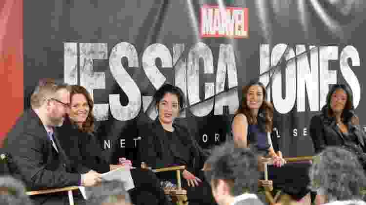 """Algumas das mulheres envolvidas nos bastidores de """"Jessica Jones"""": Allie Goss, Deborah Chow, Samantha Thomas e Jet Wilkinson - Divulgação/Netflix - Divulgação/Netflix"""