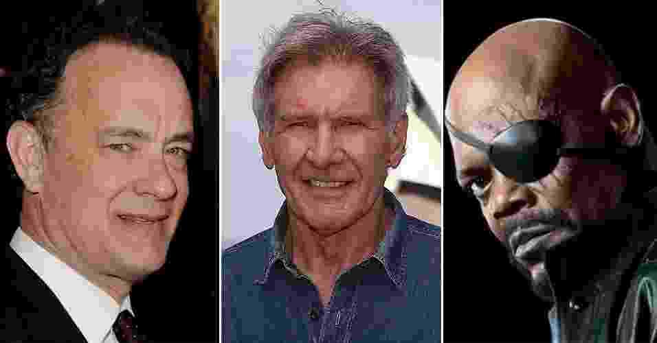 Um levantamento do site especializado IMDB mostrou que atores tem mais arrecadação de bilheteria em filmes dos quais participaram - Arte UOL / Divulgação