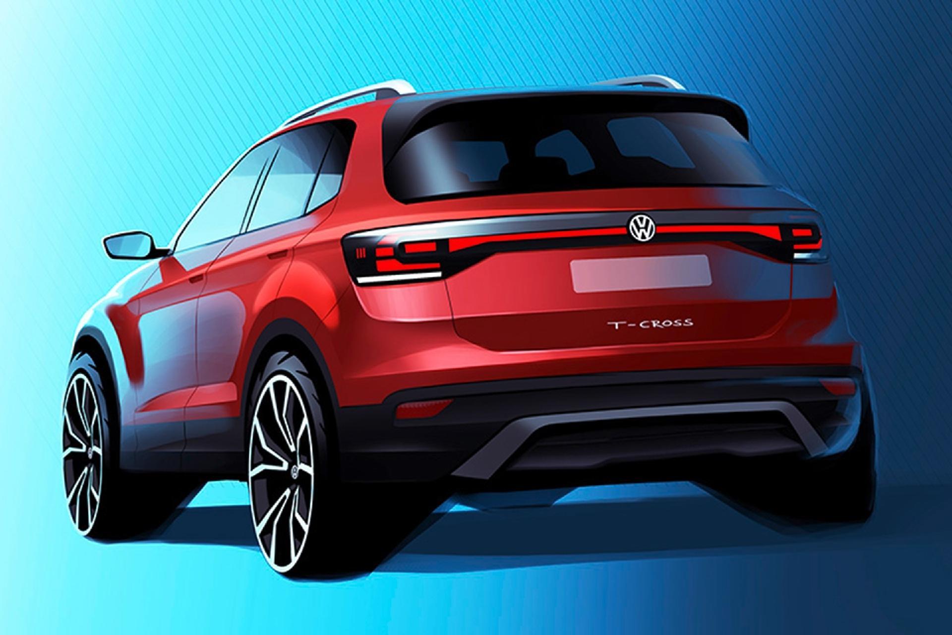 Volkswagen T Cross Marca Revela Desenho Do Suv Que Chega Em 2019