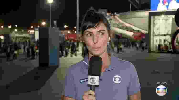 A repórter Glenda Kozlowski chora ao vivo na Globo após a eliminação do Brasil na Copa do Mundo - Reprodução/TV Globo - Reprodução/TV Globo