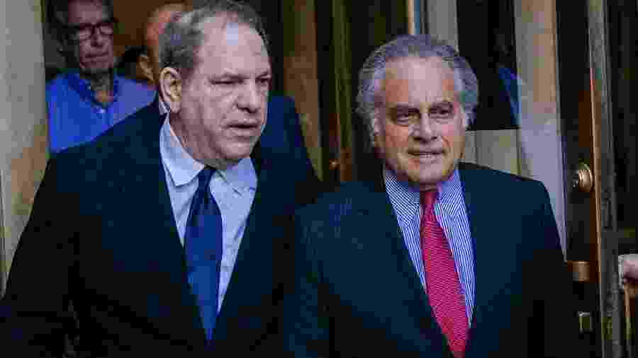Harvey Weinstein e seu advogado, Benjamin Brafman - Kevin Hagen/Getty Images