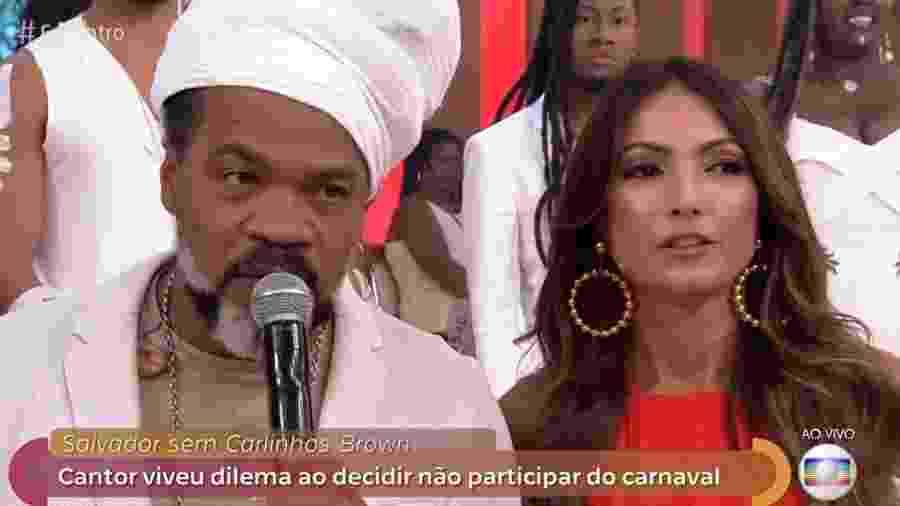 """Carlinhos Brown fala no """"Encontro"""" desta sexta (1º) sobre a decisão de deixar o Carnaval da Bahia - Reprodução/Globo"""