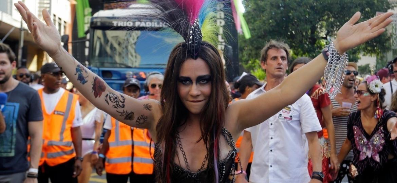Acadêmicos do Baixo Augusta celebra 10 anos de história no Carnaval de São Paulo - Nelson Antoine/UOL