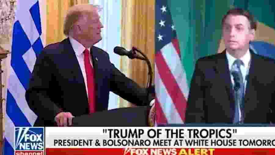 Bolsonaro é comparado a Trump na Fox News - Reprodução/Twitter