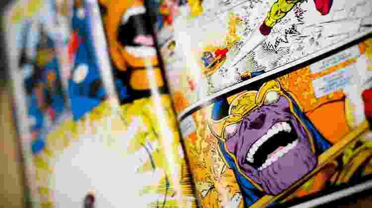 """Thanos em detalhe da HQ """"Desafio Infinito"""" (1991) - Lucas Lima/UOL"""