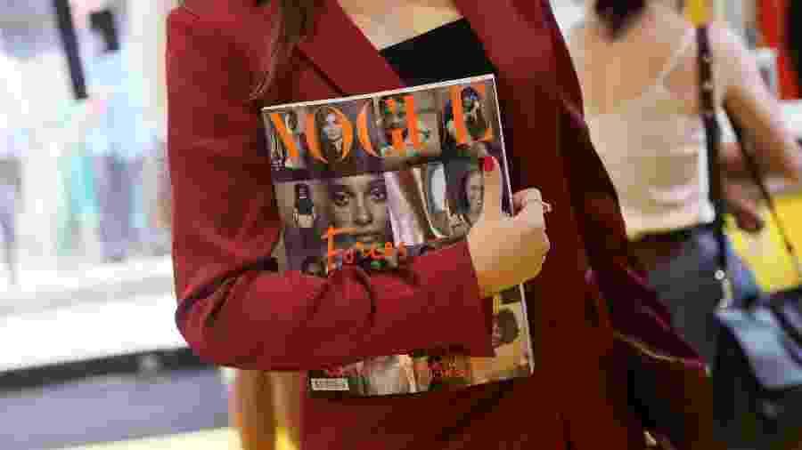 Consumidores britânicos disseram que está difícil encontrar um exemplar da Vogue britânica nas lojas - REUTERS/Simon Dawson