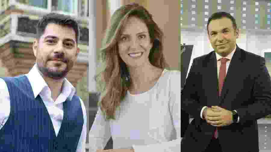 Vários profissionais conhecidos foram contratados pela CNN Brasil - Reprodução/Twitter//Divulgação/CNN/Antonio Chahestian/Divulgação Record TV/Montagem UOL