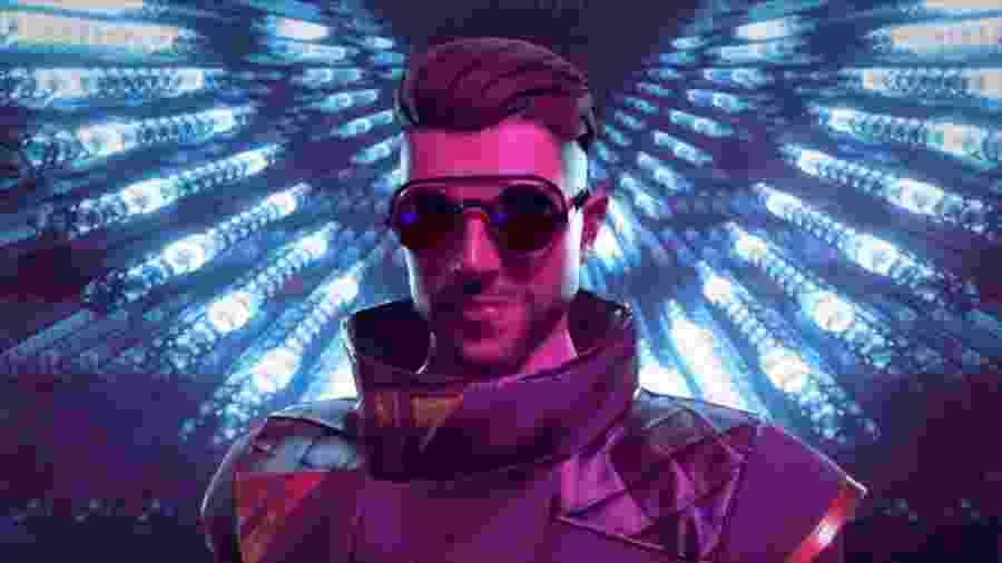 Além das feições, roupas e acessórios do DJ, o personagem tem a habilidade de cura e aumenta a velocidadedos membros da equipe  - Reprodução