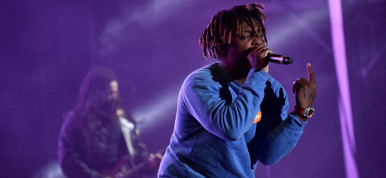 13.10.2019 - Rapper Juice WRLD se apresenta no festival Rolling Loud, em Nova York - Getty Images