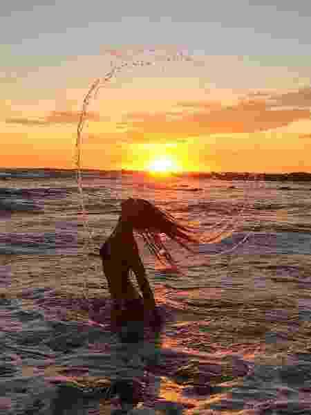 Gisele Bündchen aproveita a golden hour para ser fotografada - REPRODUÇÃO/INSTAGRAM