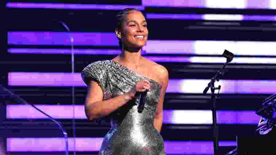 Alicia Keys durante o Grammy deste ano - Jeff Kravitz/FilmMagic