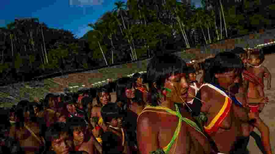 "Os Yanomami no encontro de Lideranças Yanomami e Ye""kuana, onde os indígenas se manifestaram contra o garimpo em suas terras. O primeiro fórum de lideranças da TI Yanomami foi realizado entre 20 e 23 de novembro de 2019 na Comunidade Watoriki, região do Demini, Terra Indígena Yanomami - Victor Moriyama / ISA/Victor Moriyama / ISA"