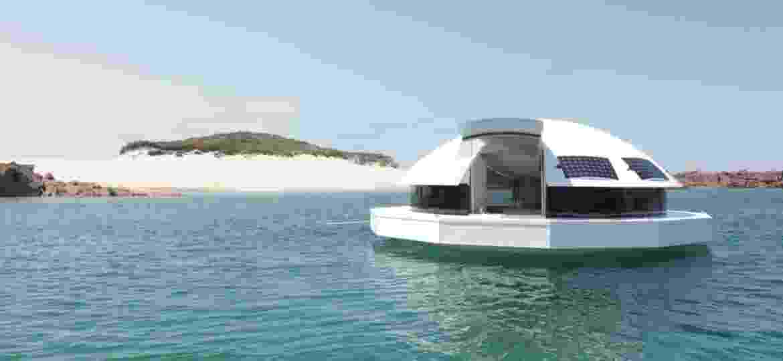 A cápsula Anthénea foi construída com princípios de sustentabilidade e, segundo os criadores, é impossível de afundar   - Divulgação