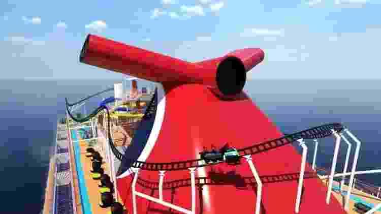 montanha russa navio - Reprodução - Reprodução