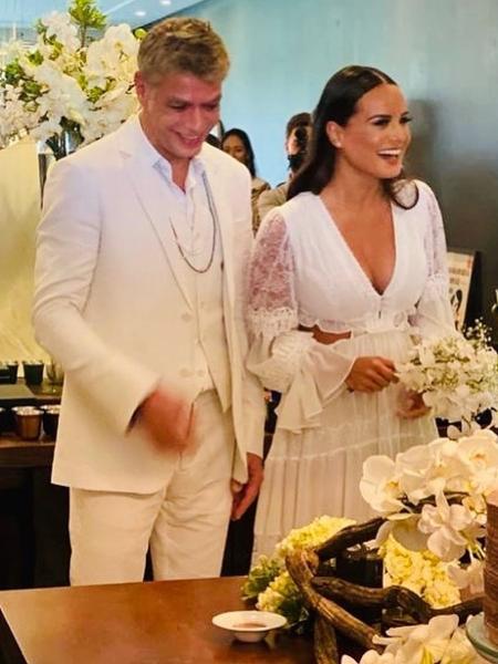 Fábio Assunção e Ana Verena se casaram  - Reprodução/Instagram