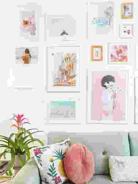 Desde os quadros até as plantas, tudo conversa entre si no cômodo - Arquivo Pessoal - Arquivo Pessoal