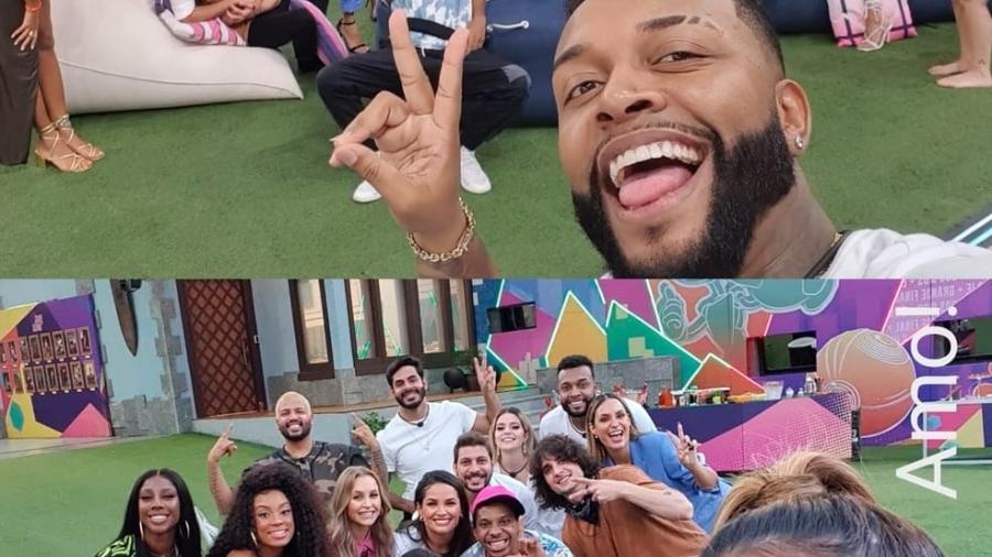 """Brothers fazem selfie em grupo no """"BBB Dia 101"""" - Reprodução/Instagram"""