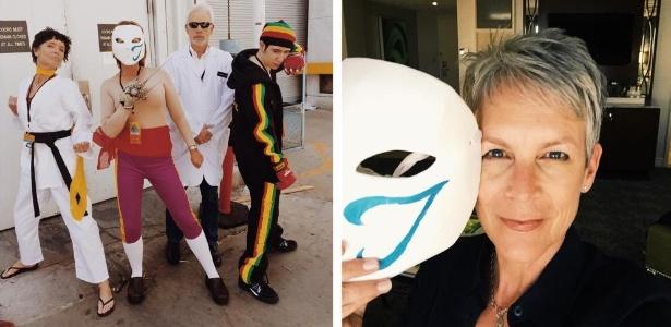 Você imaginaria? Por trás da máscara de Vega estava a famosa atriz Jamie Lee Curtis! - Reprodução Twitter/jamieleecurtis