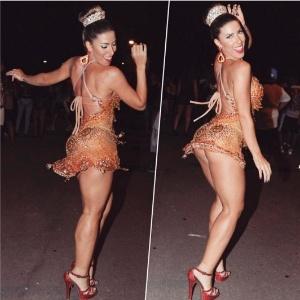 Tatiane Minerato em seu último ensaio com a Gaviões da Fiel antes do Carnaval