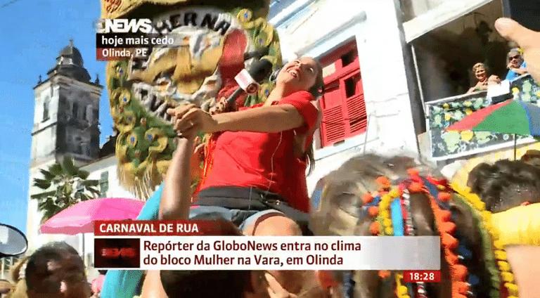 8.fev.2016 - Repórter da Globo News