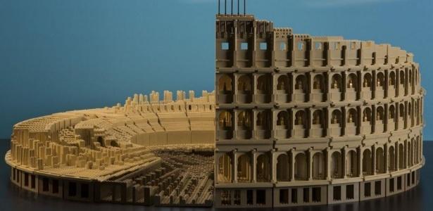 Um coliseu de Roma feito de Lego está entre as atrações da exposição - J.B. Spector/Museum of Science and Industry