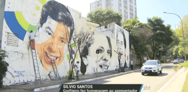 Silvio Santos ganha homenagem em mural gigante de 8 metros de altura, em SP - Reprodução/SBT