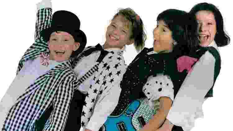 O grupo Trem da Alegria era formado por Juninho Bill, Vanessa, Luciano e Patrícia Marx  - Reprodução - Reprodução
