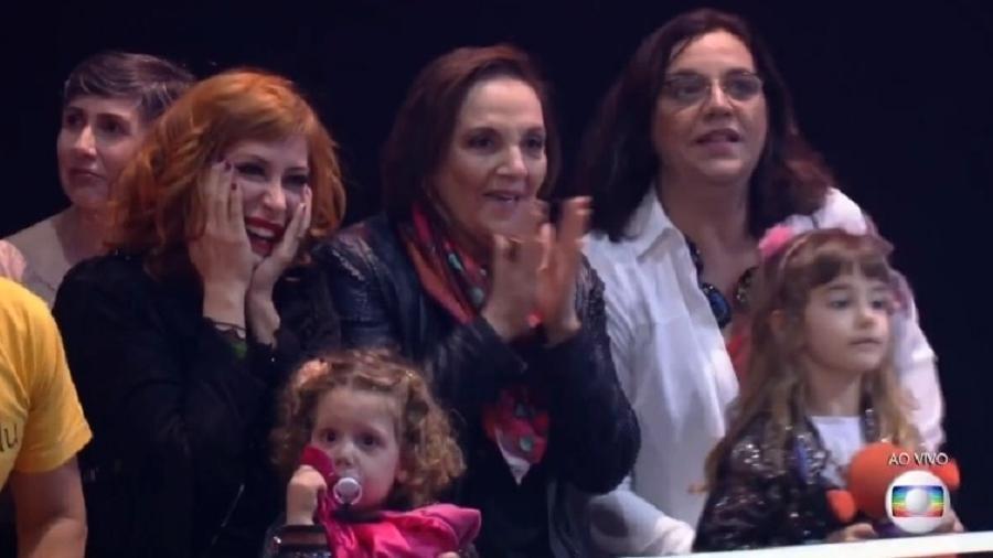 """A atriz Denise del Vecchio na plateia do """"Popstar"""" - Reprodução/TV Globo"""