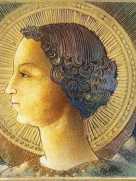 Pintura do Arcanjo Gabriel, de Leonardo da Vinci  - Reprodução