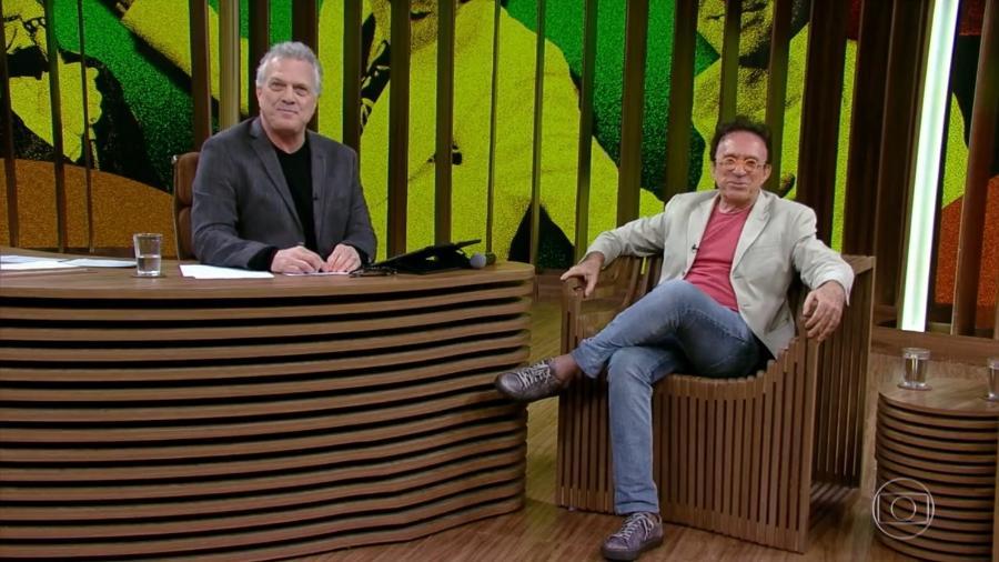 """Pedro Bial entrevista Moacyr Franco no """"Conversa com Bial"""" - Reprodução/TV Globo"""