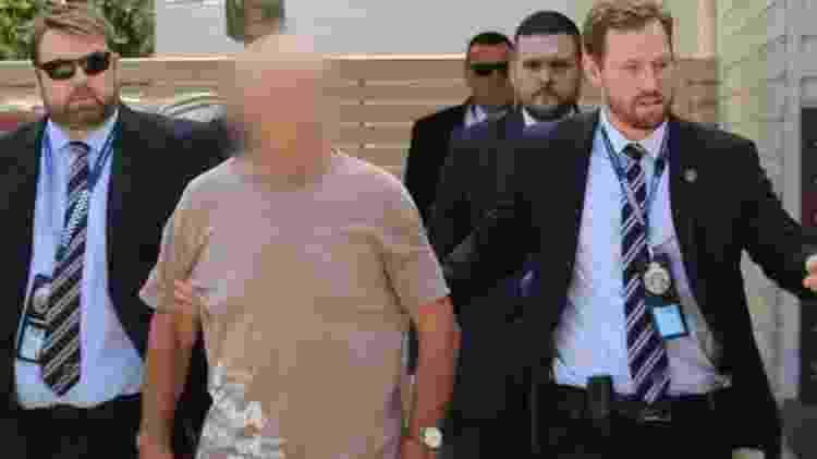 Chris Dawson, hoje com 70 anos, foi preso no estado australiano de Queensland. As autoridades policiais disseram que ele vai denunciado por assassinato - NSW Police - NSW Police