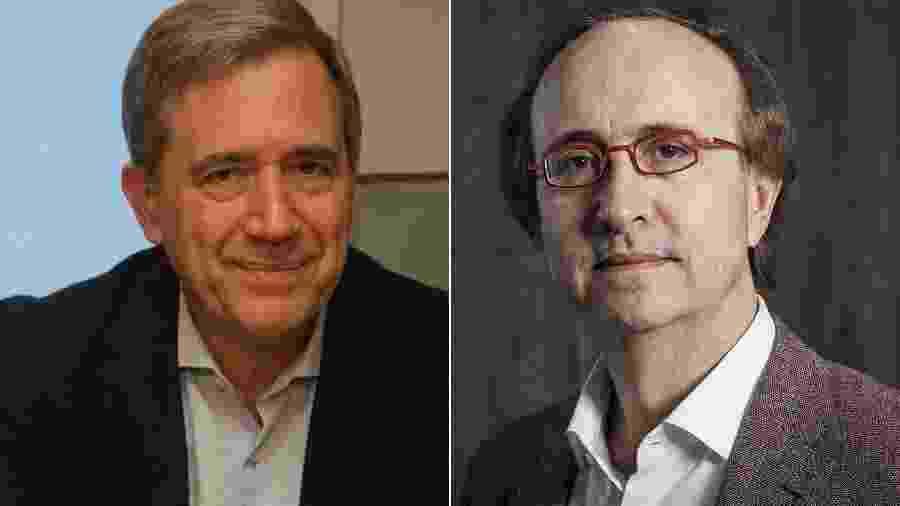 O historiador Marco Antonio Villa e o jornalista Reinaldo Azevedo - Montagem/UOL/