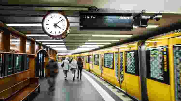 Estação de metrô em Berlim, onde é proibido comer - Getty Images/iStockphoto