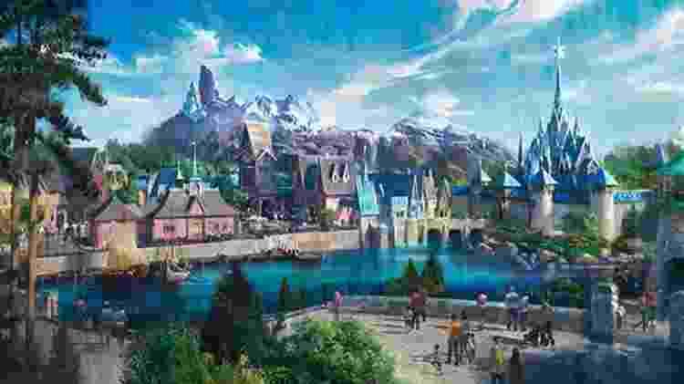 Área de Frozen da Disney Paris - Reprodução - Reprodução