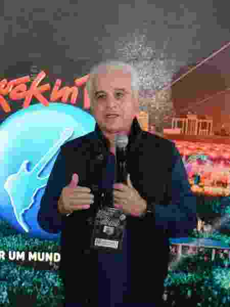 Presidente do Rock in Rio, Roberto Medina conversoa com jornalistas - JORGE HELY/FRAMEPHOTO/ESTADÃO CONTEÚDO