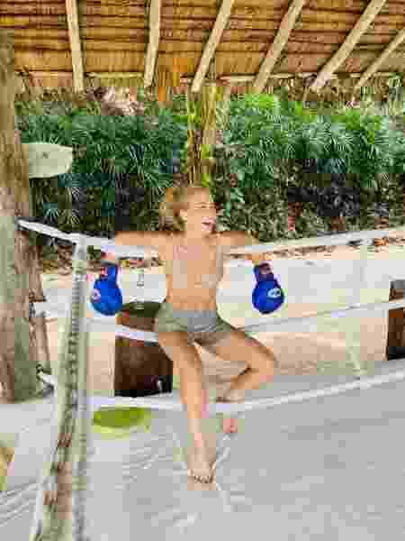 Angélica faz treino de muay-thai na Tailândia - REPRODUÇÃO/INSTAGRAM