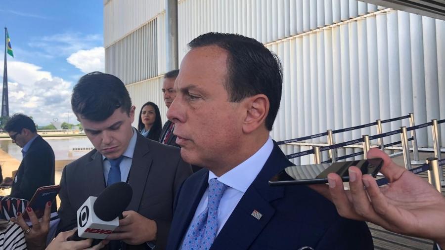 João Doria esteve em Brasília hoje; uma das pautas discutidas por ele foi o novo Marco Regulatório do Saneamento Básico - Luciana Amaral/UOL