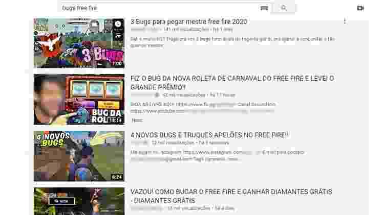 Free Fire Bugs - Reprodução/YouTube - Reprodução/YouTube
