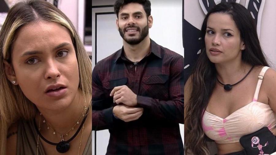 """Sarah, Rodolffo e Juliette no """"BBB 21"""" - Reprodução/Globo"""
