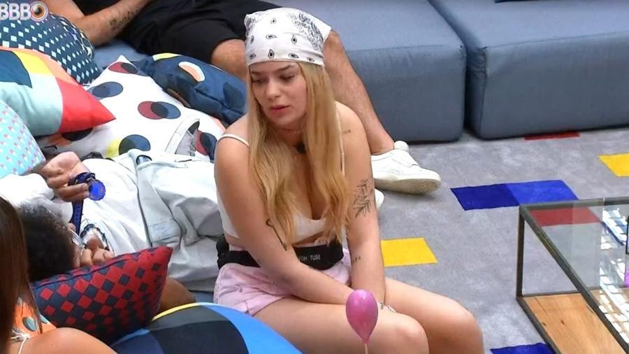 BBB 21: Viih Tube conversa na sala da casa com João e Thaís - Reprodução/ Globoplay