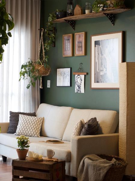 Sala de estar do apartamento de Janice - Arquivo Pessoal