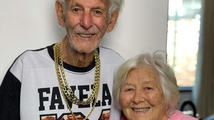 Nelson Miolaro, de 90 anos, é casado com Nair Donadelli há 67 anos - Reprodução/Instagram
