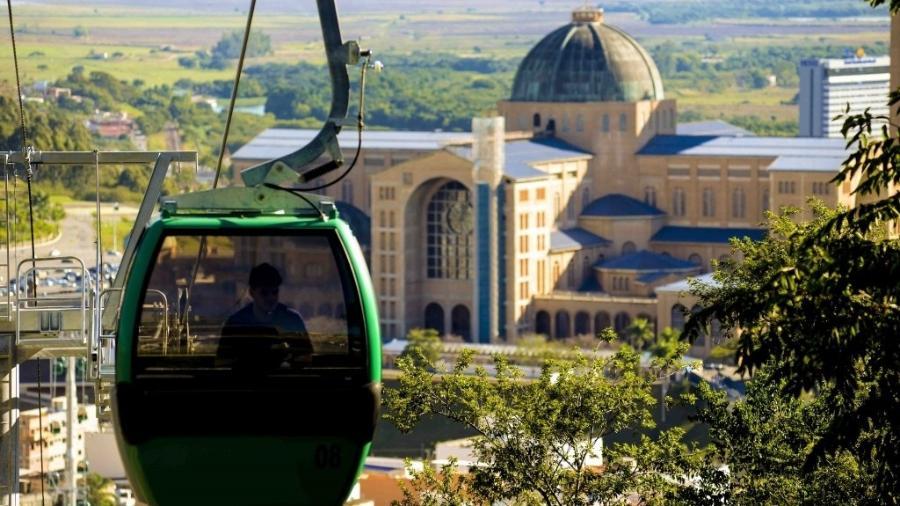 Os bondinhos do Santuário de Aparecida voltaram a funcionar em 11 de setembro - Divulgação