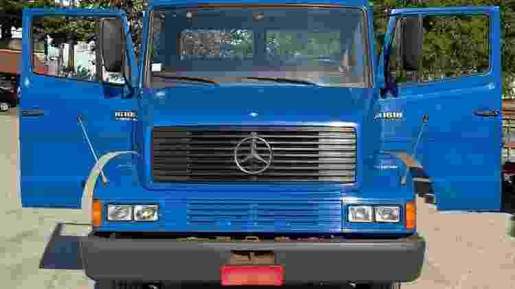 Novo e antigo ao mesmo tempo: caminhão exibe boa forma após ser cuidadosamente higienizado - Arquivo pessoal - Arquivo pessoal