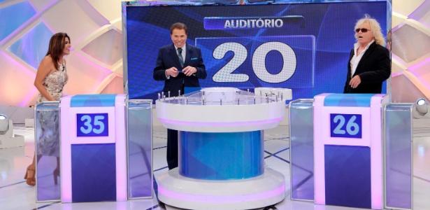 """Com Ovelha, Mara Maravilha participa do """"Programa Silvio Santos"""" - Lourival Ribeiro/SBT"""