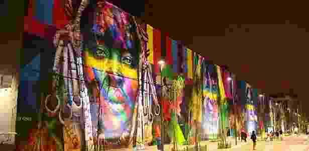 Mural de Eduardo Kobra no Boulevard Olímpico do porto, no centro do Rio - Reprodução/Guinness World Record