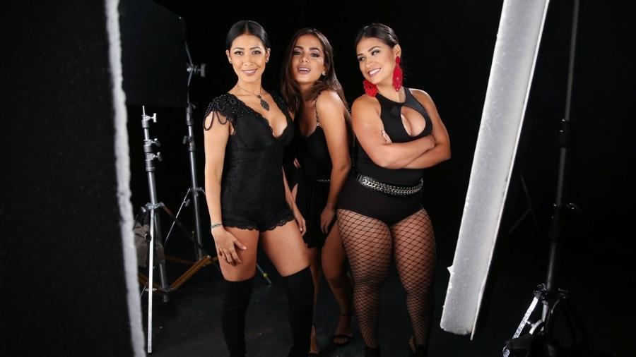 A dupla Simone e Simaria e a cantora Anitta - que já gravaram juntas - devem aparecer em especial da Globo - Manuela Scarpa/Brazil News