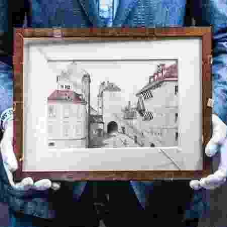 Aquarela que seria obra do jovem Hitler - Reprodução/Marlena Waldthausen/deVolksKrant