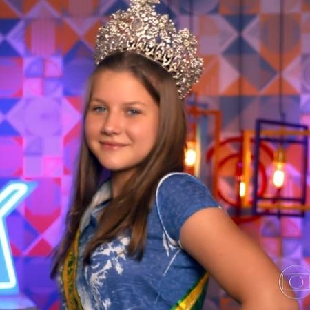 """Eduarda Back, aprovada no """"The Voice Kids"""" - Reprodução"""